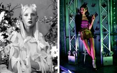 Josephine Le Tutour, Marine Deleeuw, Nastya Sten, Natalie Westling by Jeff Bark for Another Magazine