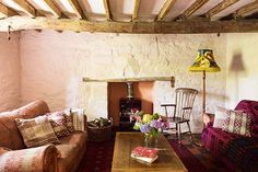 Transforming a Welsh cottage - Period Living Cottage Living Rooms, Cottage Interiors, Living Room Interior, Living Room Decor, Cottage Design, Cottage Style, House Design, Welsh Cottage, Period Living