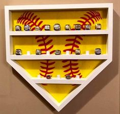 Softball ring holder that will hold 23 rings.