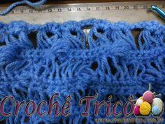 Crochê Tricô: Ponto Fantasia com Crochê Peruano e Pineapple Stitch