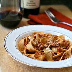 Wild Boar Ragu with Whole Wheat Pappardelle