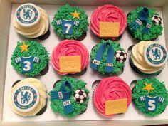 Chelsea Football cupcakes!