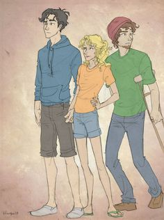 Percy, Annabeth, and Grover: the originals