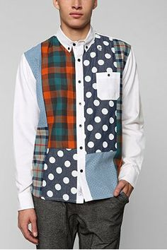 11after11 Multi-Patch Button-Down Shirt