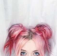 Faded Red Space Buns x