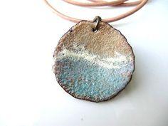 Enamel Jewelry Enameled Copper Pendant Copper di Gasquetgirl
