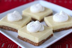 Eggnog Cheesecake Bars (from The Galley Gourmet)