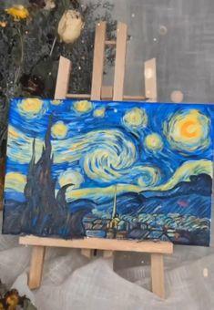 Easy Canvas Art, Cute Canvas Paintings, Canvas Painting Tutorials, Small Canvas Art, Mini Canvas Art, Diy Canvas, Art Painting Gallery, Painting Art, Painting Videos