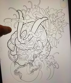 Chinesische Tattoo Designs, Tattoos f. Dragon Tattoos For Men, Japanese Dragon Tattoos, Japanese Tattoo Art, Japanese Sleeve Tattoos, Hannya Maske, Asian Tattoos, Chinese Tattoos, Chinese Tattoo Designs, Helmet Tattoo