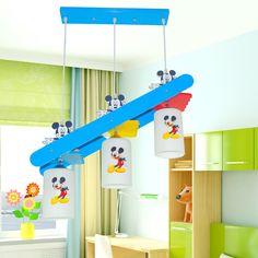157.25$  Watch now - http://ali8lo.worldwells.pw/go.php?t=32772933589 - Children Room Hanging Lighting Fixtures E27 Bulb Cartoon LED Pendant Lights 110V-220V Creative Blue Led 3 head pendant lamp 157.25$