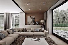 Obývacia izba- komfortná sedačka a drevo aj na strope Couch, Furniture, Home Decor, Recipes, Settee, Decoration Home, Sofa, Room Decor, Home Furnishings