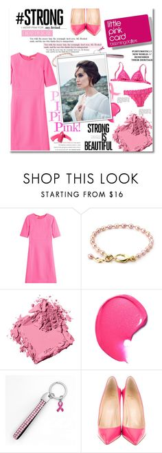 """#IWearPinkFor"" by zoey-heart ❤ liked on Polyvore featuring Michael Kors, Bobbi Brown Cosmetics, Christian Louboutin, Elizabeth Arden and IWearPinkFor"