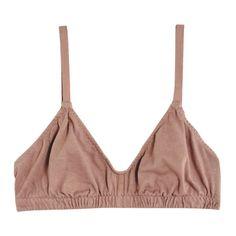 Pansy Mauve Bra ($48) ❤ liked on Polyvore featuring intimates, bras, scoop neck bra, slimming bra, cotton bras, underwire bra and elastic bra
