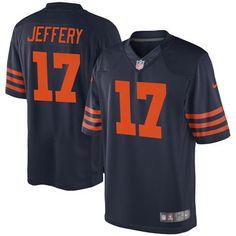 Nike Alshon Jeffery Chicago Bears Navy Blue Alternate Game Jersey-size XXL  Harrison Smith d3b2889b0