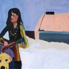 Chantal Joffe - Woman Sitting on the Edge of a Bed... on MutualArt.com