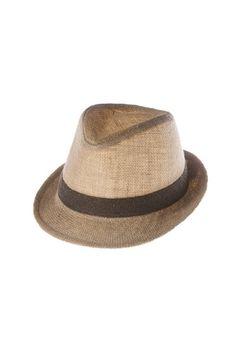 fedora hat | natural colored with contrast ribbon trim, great added to any outfit. one size fits most | ELEVALE