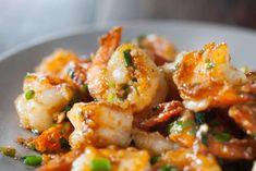 Garlic Ginger Shrimp Stir fry Recipe + Step By Step Recipe Video ~ https://steamykitchen.com