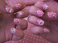 Sweet Floral and Dots Nail Tutorial