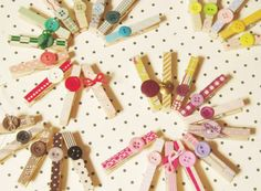 decorate clothespins...would be cute to hang art work with, bag clips, and more.