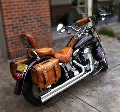 Bike with leather