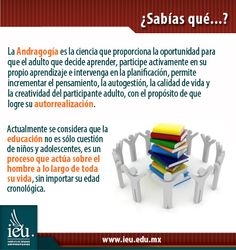 Andragogía - IEU Educational Psychology, Did You Know, Science, Learning, Psicologia, Thoughts