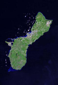 Satellite photo of Guam USA