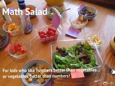 The Handley Home: Math Salad  - there are many different ways to use this idea....