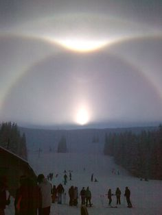"""""""Small, fine crystals were raining from the sky,"""" says Ganchevska. """"Sunlight shining through the crystals produced these very bright halos."""""""