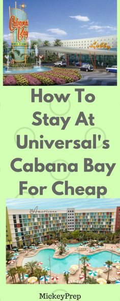 How To Save Money At Universal's Cabana Bay Beach Resort -