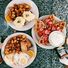 Eggs Benny and waffles?? Perfection!