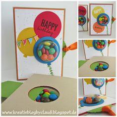 Kreativ Blog by Claudi: Luftballonkarten mit Süßigkeiten