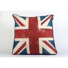 Vintage Union Jack aged feel print...... £100 incl postage    #cushions #floorcushion