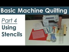 Marking and Stencils for Machine Quilting  **Great tutorials.  Nice site for quilting.  DeR