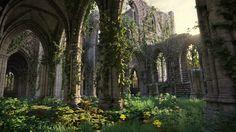 Derelict Gothic Abbey ~ Jorge Carlos Gonzalez