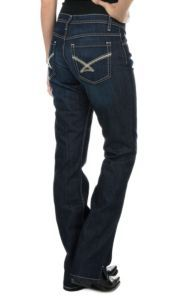 Cinch Women's Kylie Dark Wash Mid Rise Slim Fit Open Pocket Boot Cut Jeans | Cavender's