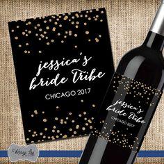 Bachelorette Party Wine Label, Bride Tribe Wine Label, Bachelorette Party Decor, Custom Wine Label, Bride Tribe Label, Bachelorette Wine