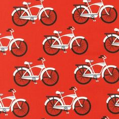 PlushAddict - Robert Kaufman - Gnome Living Bicycles - cotton fabric