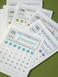 Matchbox Style Calendar 2012 and 2013 Printable Digital PDF. $6.50, via Etsy.