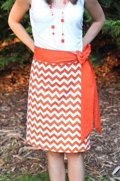 The Clemson Chevron Skirt