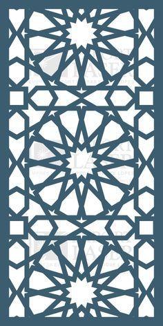Islamic Art Pattern, Arabic Pattern, Arabic Design, Arabic Art, Stencil Patterns, Pattern Art, Metal Art, Wood Art, Motifs Islamiques