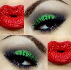 Christmas make-up !| CostMad do not sell this make-up but we do love the idea, please visit our blog for more: