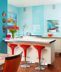 turquoise and colorful