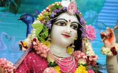 To view Radha Close Up Wallpaper of ISKCON Chowpatty in difference sizes visit - http://harekrishnawallpapers.com/srimati-radharani-close-up-wallpaper-107/