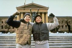 "Tommy ""The Duke"" Morrison with Sylvester Stallone in Rocky V. I miss and love my Tommy Gunn......<3"