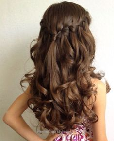 Look Over This Waterfall braid. wedding hairstyles for little girls best photos – wedding hairstyles  – cuteweddingideas.com  The post  Waterfall braid. wedding hairstyles for little girls best photos .. #braidedhairstylesforlittlegirls