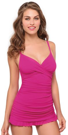 d4d5032ef8 Profile by Gottex 2014 Tutti-Fruti Magenta Skirted One Piece Swimsuit   OnePiece  Swimsuit