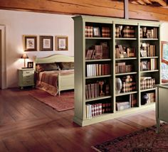 Bookshelf instead of wall