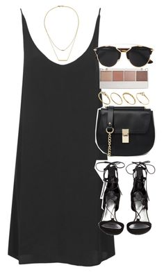 """Outfit for summer with a slip dress"" by ferned ❤ liked on Polyvore featuring Topshop, ASOS, Stuart Weitzman, Kacey K Fine Jewelry, Witchery and Christian Dior"