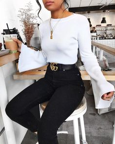 Take a look at the best winter Bodysuit 2018 in the photos below and get ideas for your outfits! Helena Glazer + kills it + cute winter style + distressed denim jeans + oversized camel coat + spike heeled booties… Continue Reading → - fashion Winter Outfits For Teen Girls, Lazy Outfits, Going Out Outfits, Casual Outfits, Fashion Outfits, Fashion Trends, Preppy Fashion, Fashionable Outfits, Fashion Top