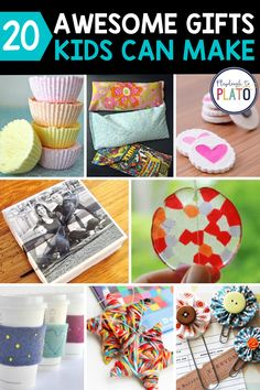 Here are our best holiday gift ideas kids can make in the classroom or at home. These are fun keepsakes and make the best gifts for mom, parents, or friends! This roundup of 20 awesome gifts kids can make are sure to be a hit! Homemade Kids Gifts, Diy Gifts For Kids, Crafts For Kids, Unique Art Projects, Creative Arts And Crafts, Playdough To Plato, Classroom Crafts, Classroom Ideas, Easy Handmade Gifts